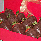 dark chocolate dipped strawberries